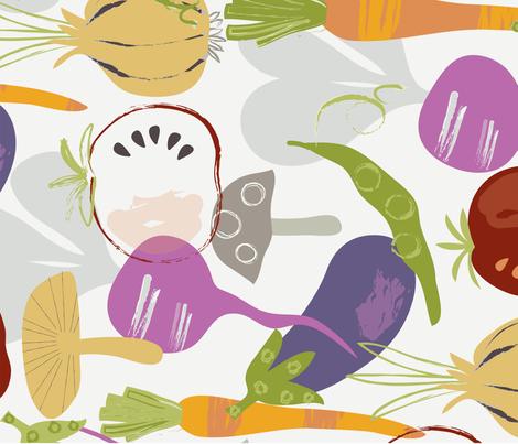 Vegetable Tea Towel fabric by amy_schimler-safford on Spoonflower - custom fabric