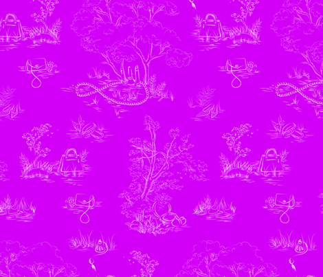 Fashion Toile White on Magenta fabric by emmakisstina on Spoonflower - custom fabric