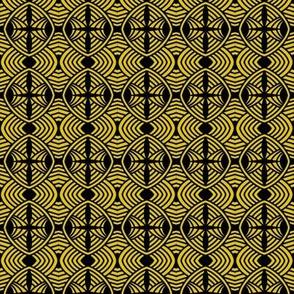 Roundabout Maze Gold Black