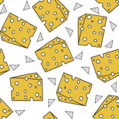 cheese // novelty food fabric print for craft projects