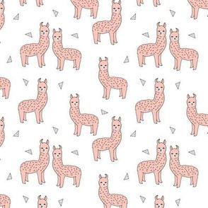 alpaca // pink alpaca fabric cute llama print pattern animals print nursery baby cute fabrics andrea lauren fabric andrea lauren design