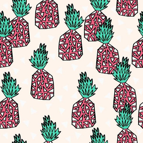 pineapple // pineapples sweet tropical fruit exotic hawaii pink and green