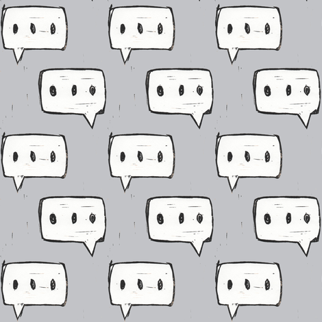Philosophical Conversation in Gray fabric by sparegus on Spoonflower - custom fabric