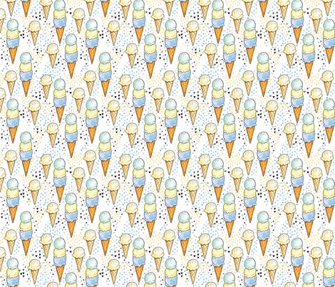 Blue Ice Cream SMALL fabric by tamara_arcilla on Spoonflower - custom fabric