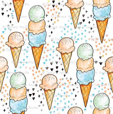 Peach Ice Cream SMALL