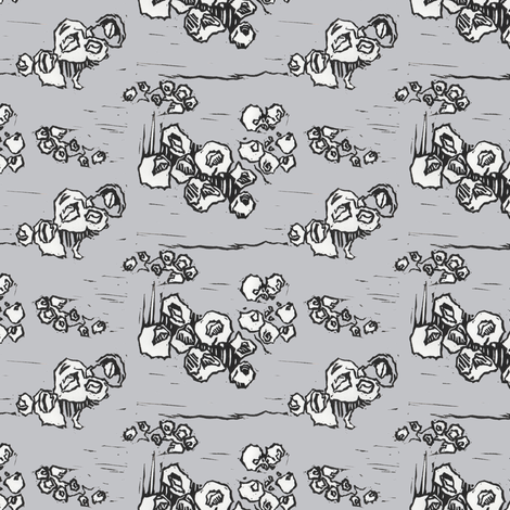 Barnacle Envy in Gray fabric by sparegus on Spoonflower - custom fabric