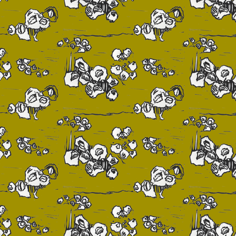 Barnacle Envy in Green fabric by sparegus on Spoonflower - custom fabric