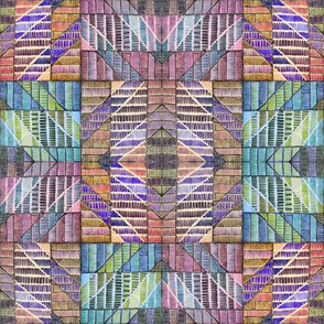 Ethnic squares multicoloured