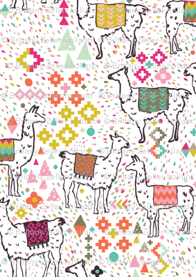 Pink and Inca Llamas