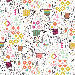 Pink and Inca Llamas (Large)