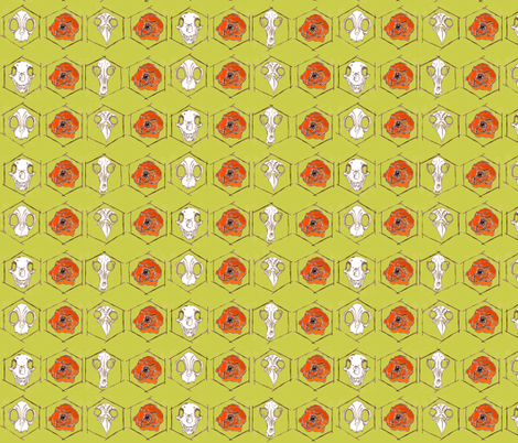 Everything Is Everything in Green fabric by sparegus on Spoonflower - custom fabric