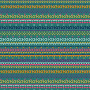 Peruvian stripe on emerald green
