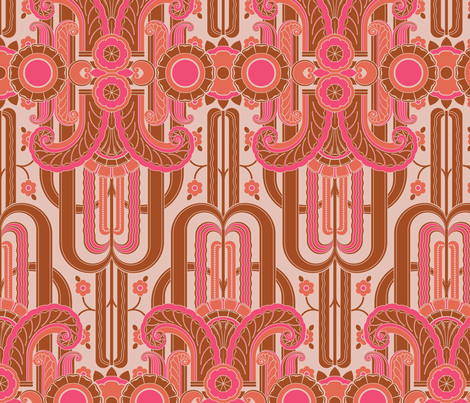 Fountains Moderne 1d fabric by muhlenkott on Spoonflower - custom fabric