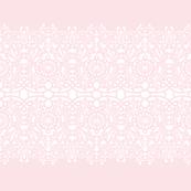 Elisabetta Lace Stripe on sorbet