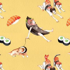 Sushi Girls pattern