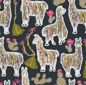 Shaggy Rainbow Llamas