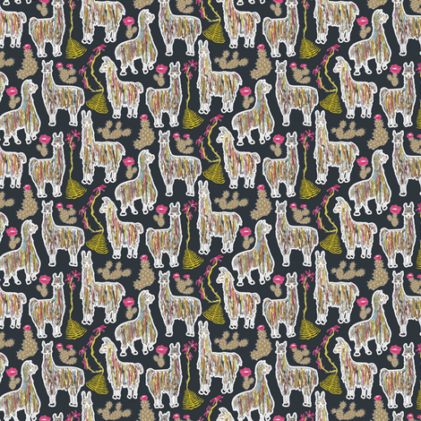 Shaggy Rainbow Llamas fabric by angelastevens on Spoonflower - custom fabric