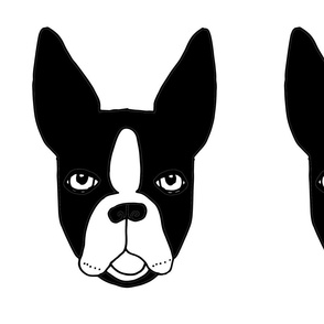 boston terrier // cute plushie plush cut and sew dog black and white kids pet pillow