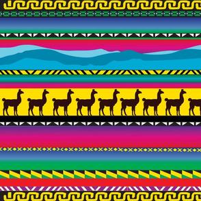 Llama in bright colors