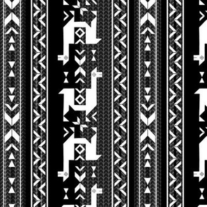 Llamas_Black & White