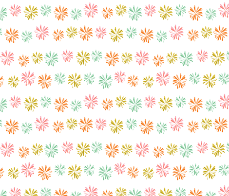 Flower Chain fabric by cjldesigns on Spoonflower - custom fabric
