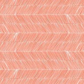 Herringbone - Peruvian Coral