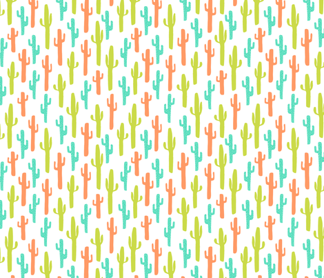 cactus // southwest kids bright summer tropical baby nursery fabric by andrea_lauren on Spoonflower - custom fabric