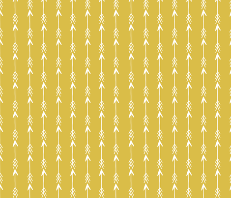Arrow Arrows Mustard Yellow Arrow Fabric Nursery Baby