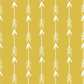 arrow // arrows mustard yellow arrow fabric nursery baby arrows design