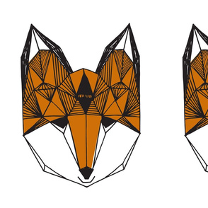 fox // geo fox geometric fox cut and sew plush plushie pillow