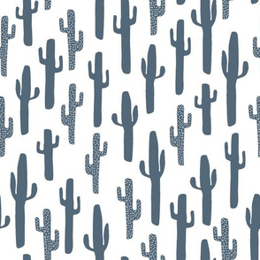 cactus // cacti blue kids boys nursery baby paynes grey grey blue