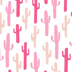 cactus // pink kids girls cacti plants blush pinks