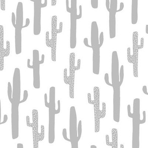 cactus // cacti simple grey nursery cactus nursery baby kids print