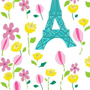 Eiffel Tower Floral