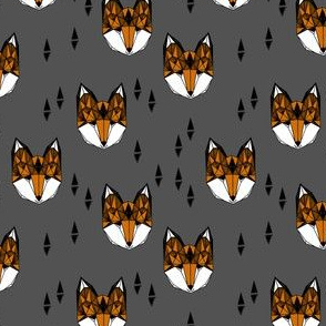fox // charcoal rust kids nursery by geometric fox woodland animal cute kids design