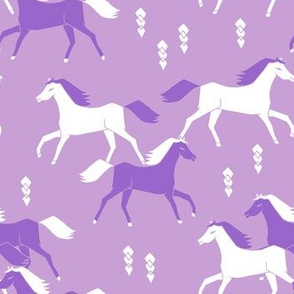horses // purple lilac girls sweet cowgirl