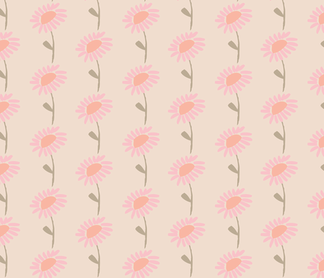 pink blossoms fabric by shindigdesignstudio on Spoonflower - custom fabric