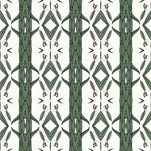 Geometric mirrored Mantis Print