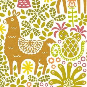 Camouflage Llama Family