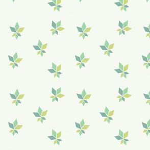 Geo Maple Leaves Spring Green