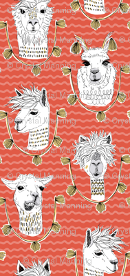 Llamas of Lima - Red