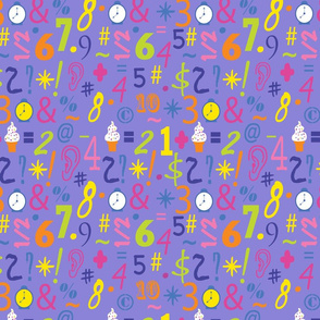 numbers_lavender