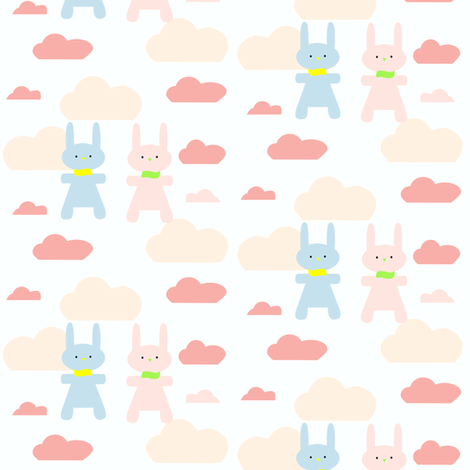 Bunny´s fabric by bruxamagica on Spoonflower - custom fabric