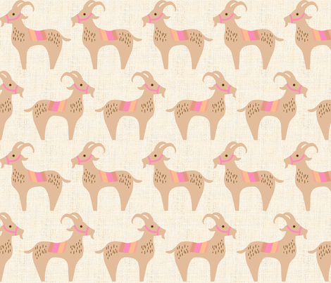 Goats fabric by mariafaithgarcia on Spoonflower - custom fabric