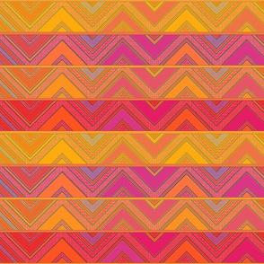 pink yelow zigzags