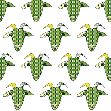 Simply Goat fabric by anniedeb on Spoonflower - custom fabric