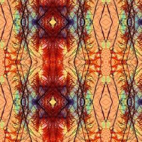 Plumes Pattern 1 (Orange)