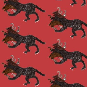 Cerberus on red