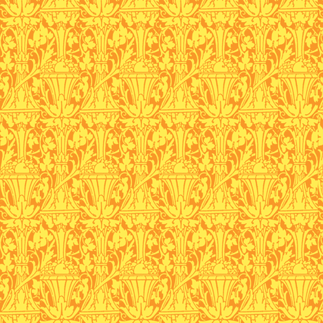 Hubbard Vases Gold fabric by amyvail on Spoonflower - custom fabric