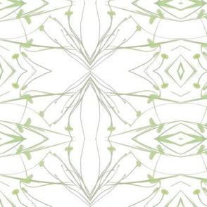 Dandelions (Pale Green & Gray)